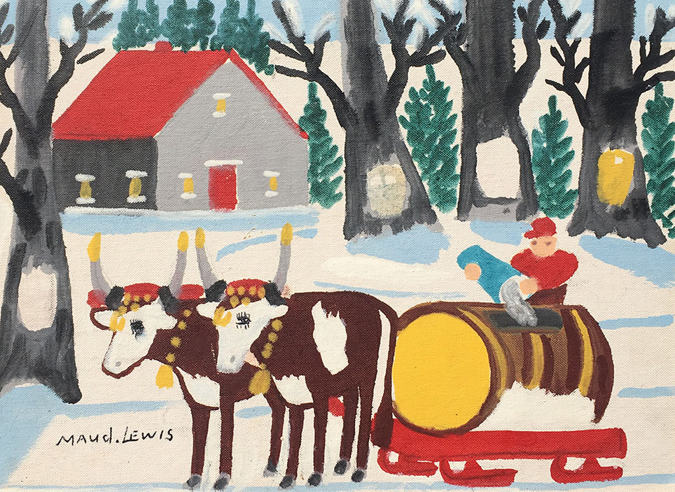 Maud Lewis Sap Collection Oil Painting