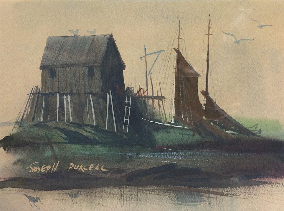 Schooner at the Wharf