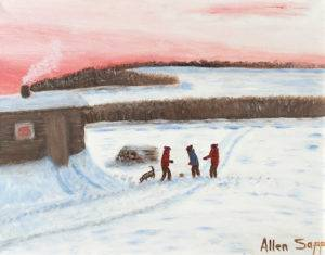 The Boys Are Playing Ball — Allen Sapp